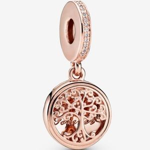 Pandora Charm 14k Rose Gold-plated Family Charm